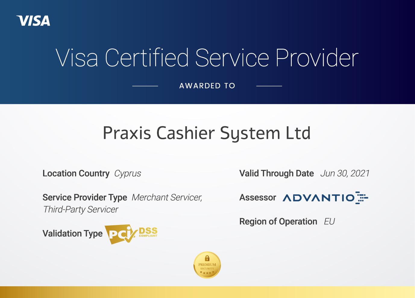 Visa Certified